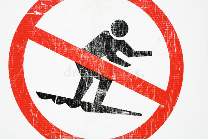 Download No surfing sign. stock photo. Image of symbol, close, surfing - 4485204
