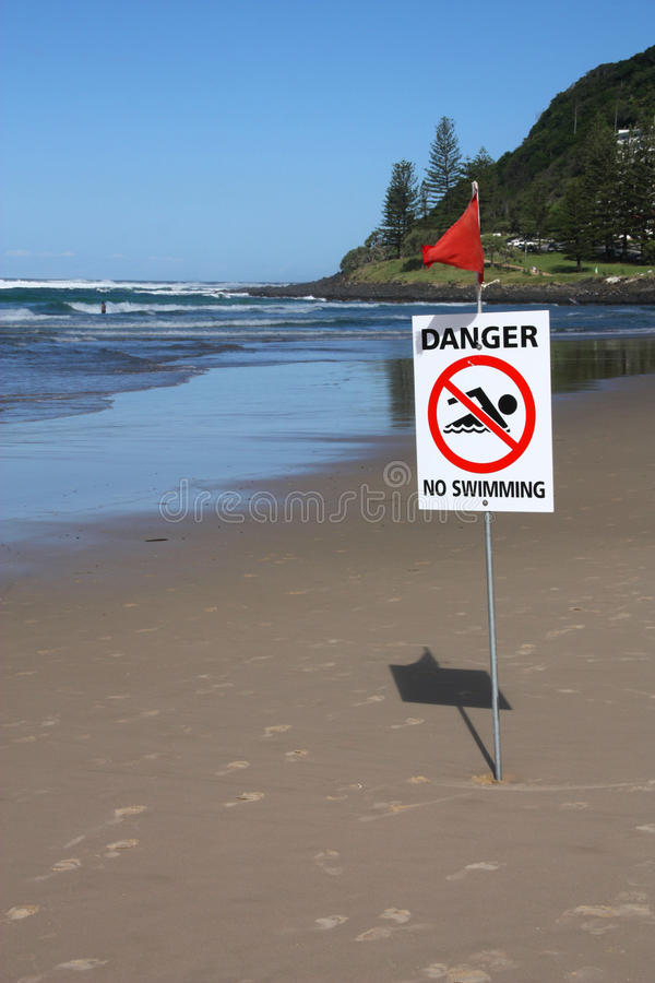 No Swimming royalty free stock image