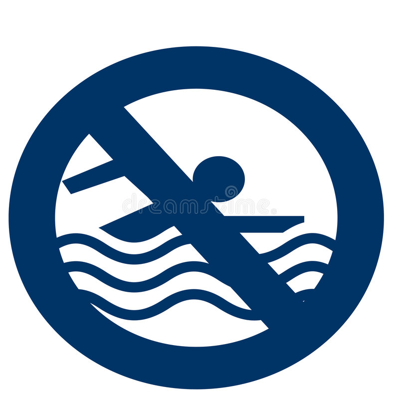 Free No Swimming Icon Royalty Free Stock Photography - 5312407