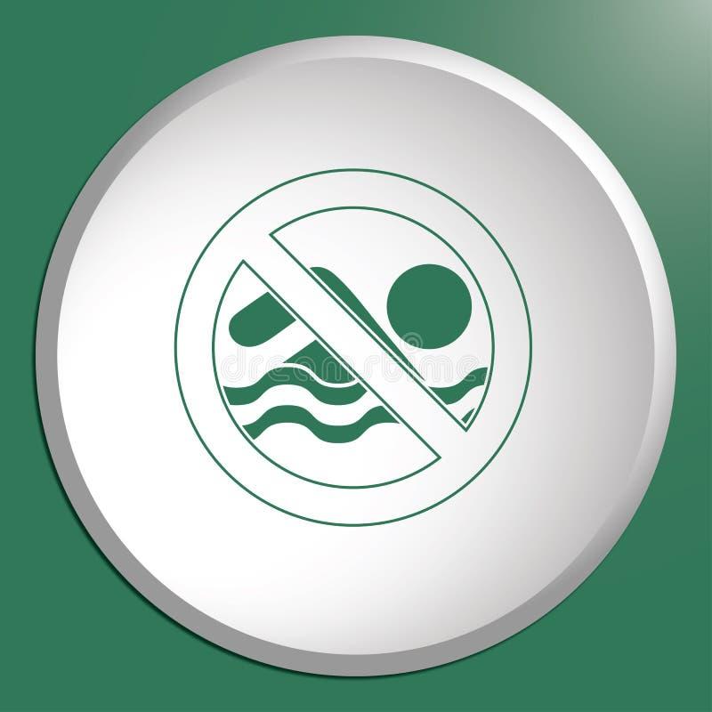 No swimming prohibition sign icon. Vector illustration vector illustration