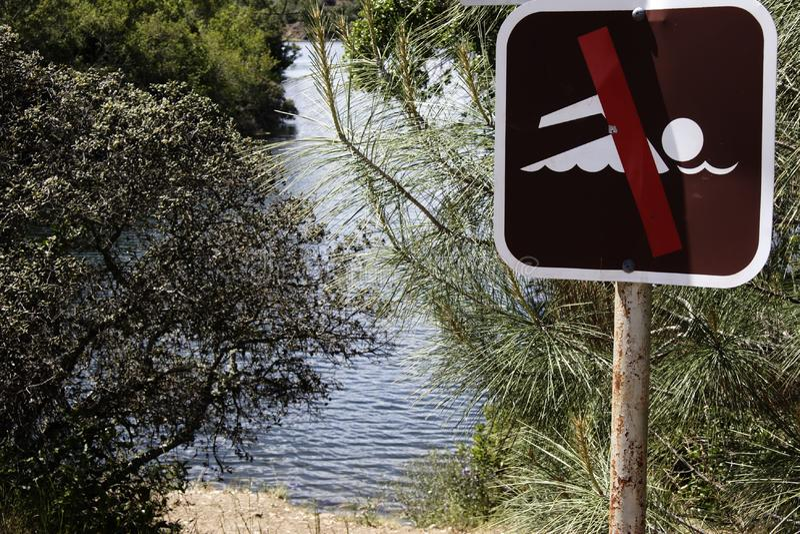 No Swimming Sign Free Stock Photo