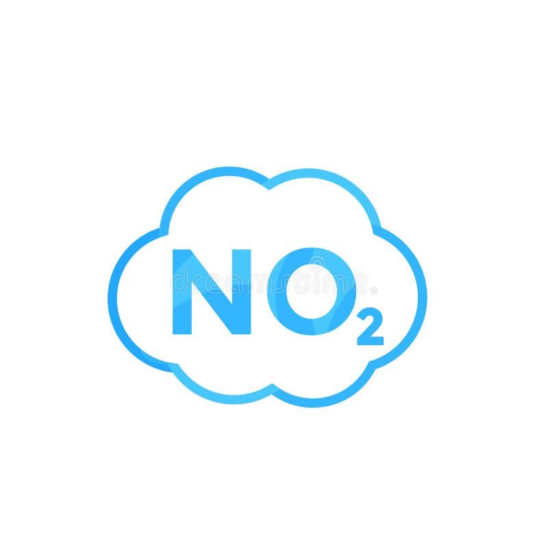 NO2 symbol, gasformigt grundämnedioxid royaltyfri illustrationer