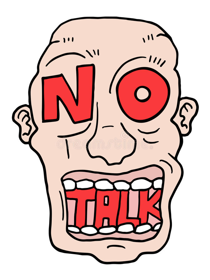 No talk advise. Creative design of no talk advise royalty free illustration