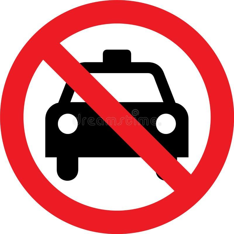 No taxi sign vector illustration