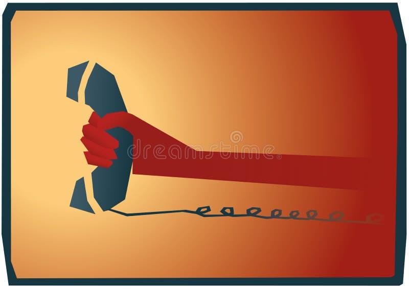 No telefone ilustração stock