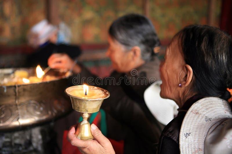 No templo de Jokhang fotos de stock