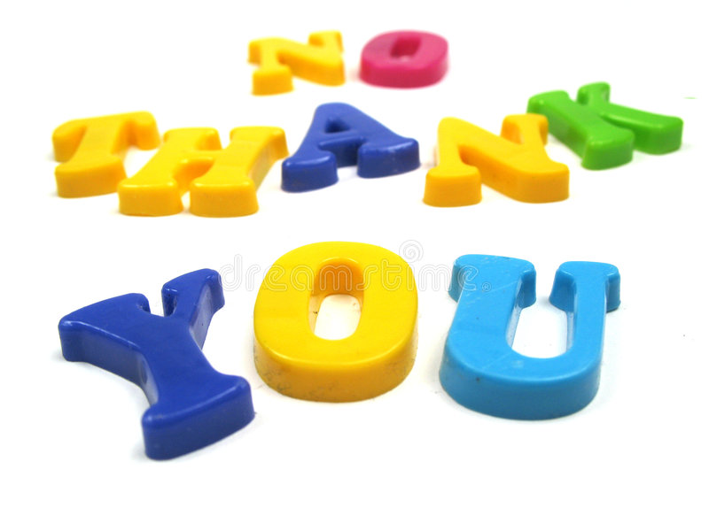 Download No thank you stock image. Image of rejection, colorful - 6813043