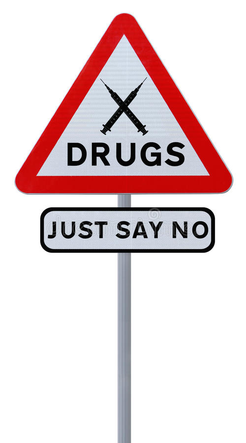 Download No To Drugs stock image. Image of sign, isolated, background - 26350971