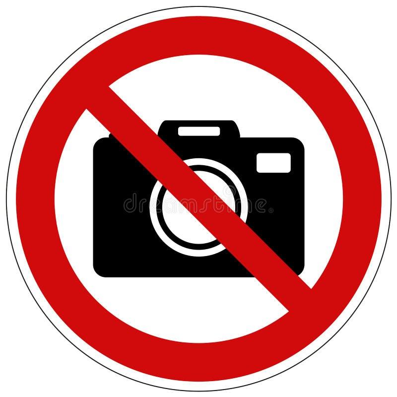 No tome la muestra del vector de las fotos aislada en el fondo blanco libre illustration