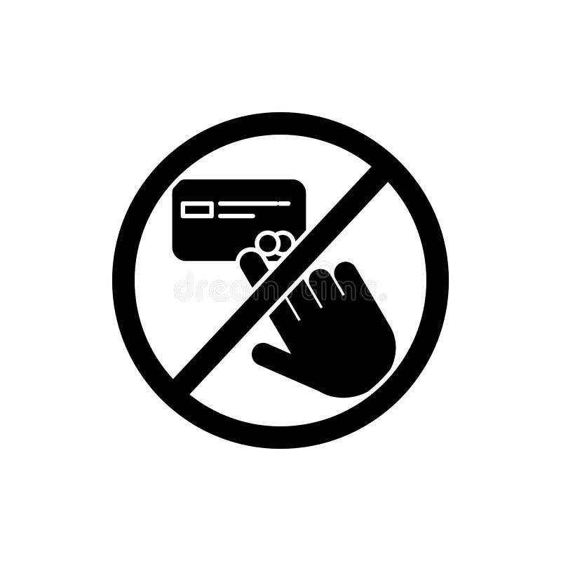 no toque, icono de la tarjeta de crédito Elemento del icono de la muestra de la prohibición Icono superior del diseño gráfico de  libre illustration