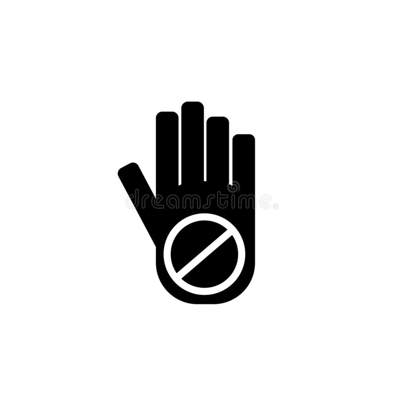 No touch icon vector isolated on white background, No touch sign stock illustration