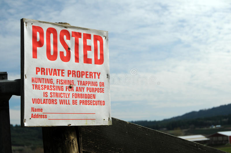 Download No Trespassing Royalty Free Stock Images - Image: 13241279
