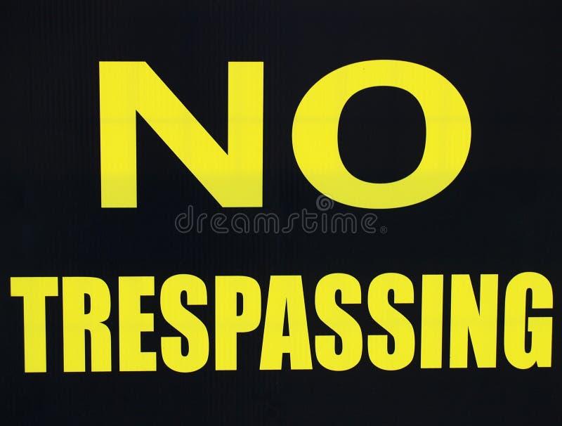Download No Trespassing stock photo. Image of yellow, dangerous - 4215670