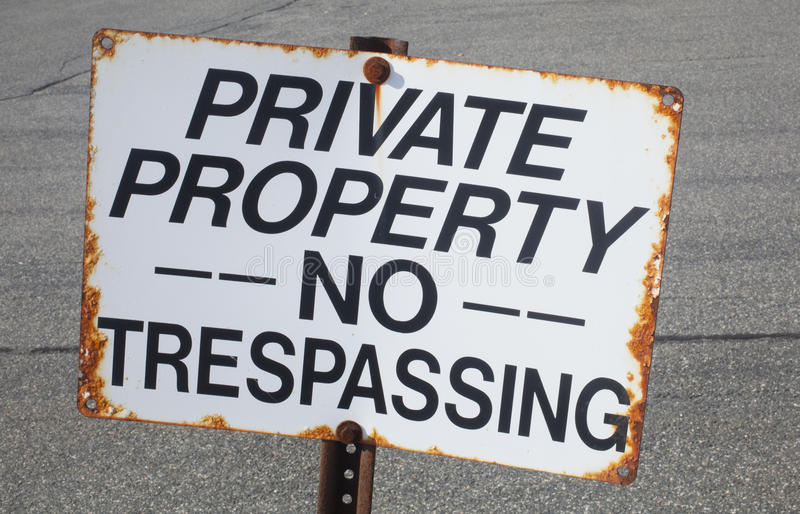 No Trespassing stock images