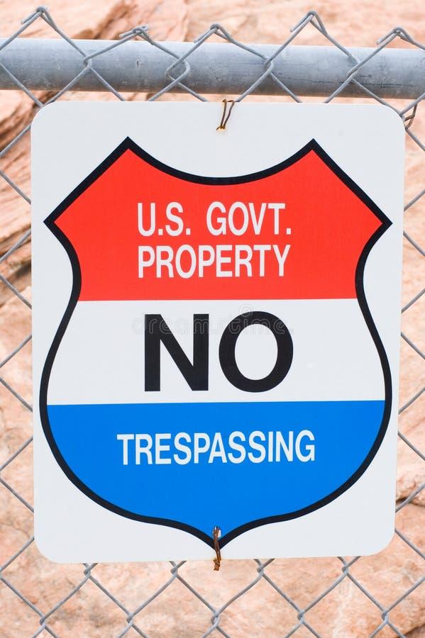 'No Trespassing' sign royalty free stock photos