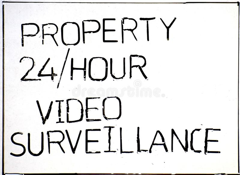 No tress passing property under video surveillance royalty free stock photo