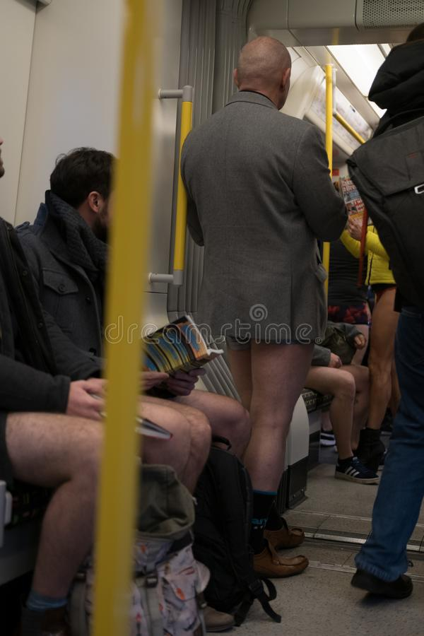 No Trousers Tube Day royalty free stock photos