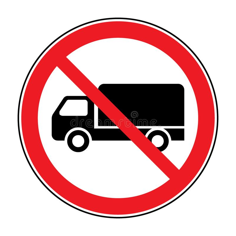 No truck sign vector illustration