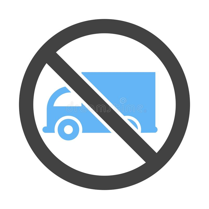 No truck sign royalty free stock photo
