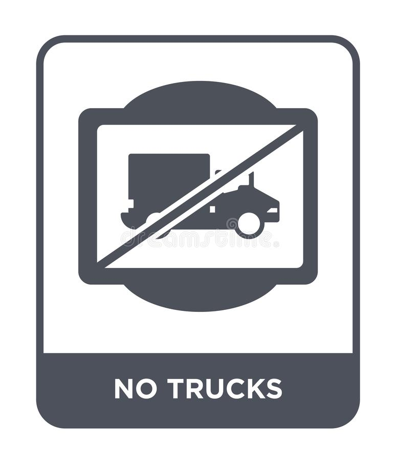 no trucks icon in trendy design style. no trucks icon isolated on white background. no trucks vector icon simple and modern flat vector illustration