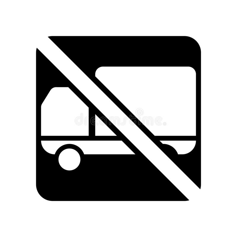 No trucks icon vector isolated on white background, No trucks sign stock illustration