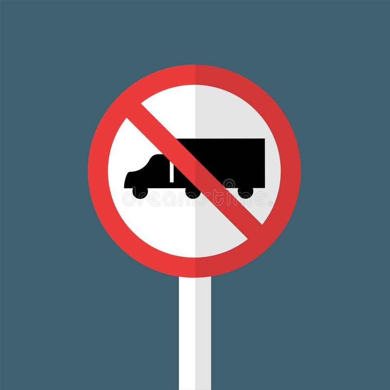 No Trucks Sign stock illustration