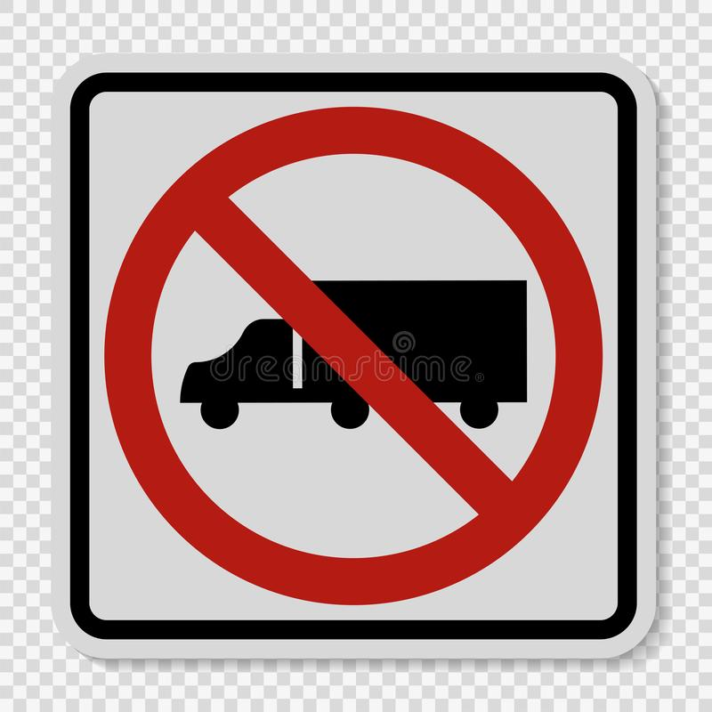 symbol No Trucks Sign on transparent background vector illustration