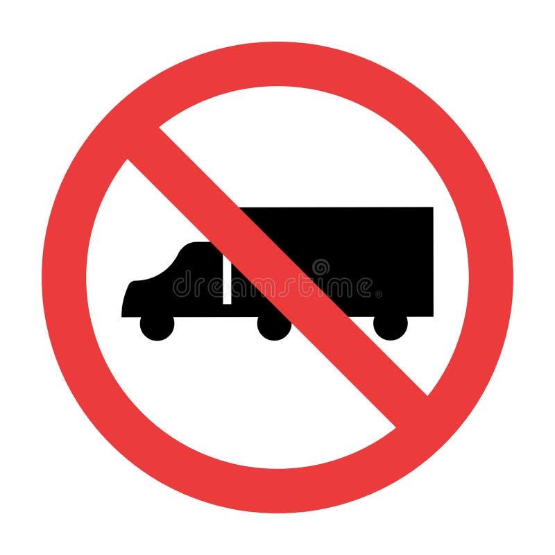 No Trucks Sign on white background. No Trucks Signs on white background stock illustration