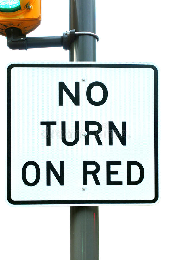 No Turn on Red stock photos
