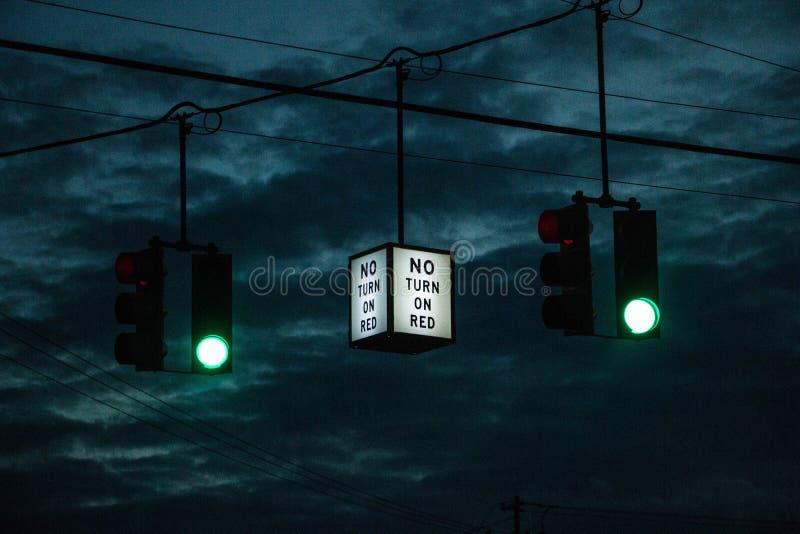 No Turn Sign stock photos