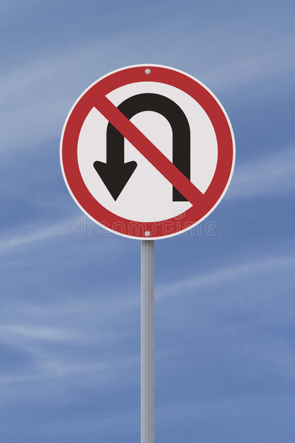 U-Turn Not Allowed Stock Images