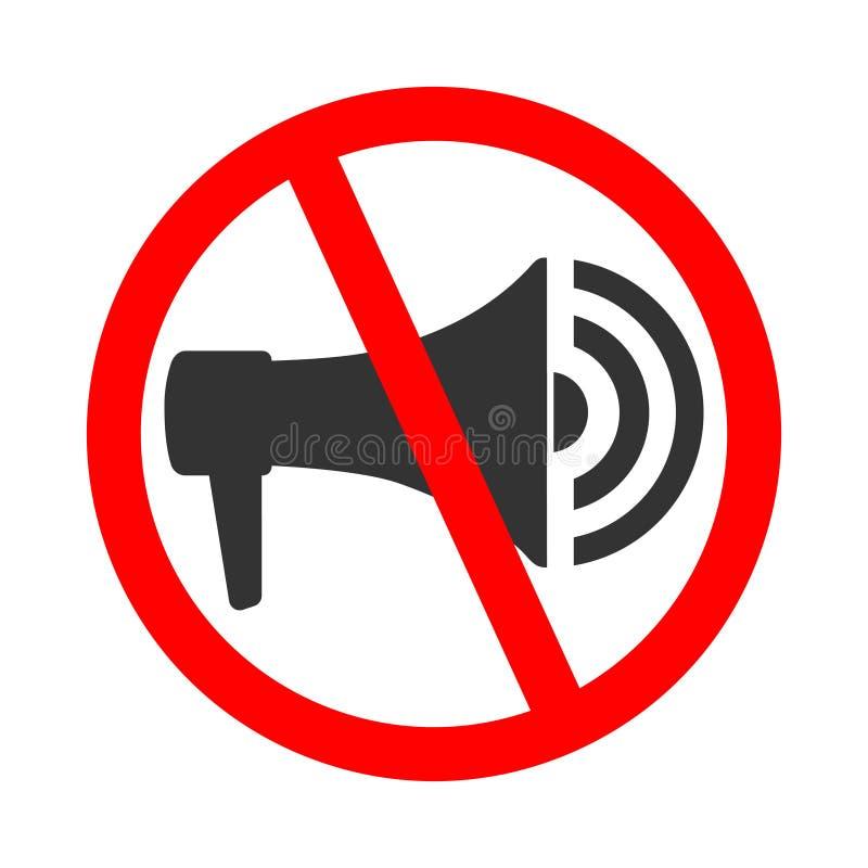 No utilice el megáfono ilustración del vector