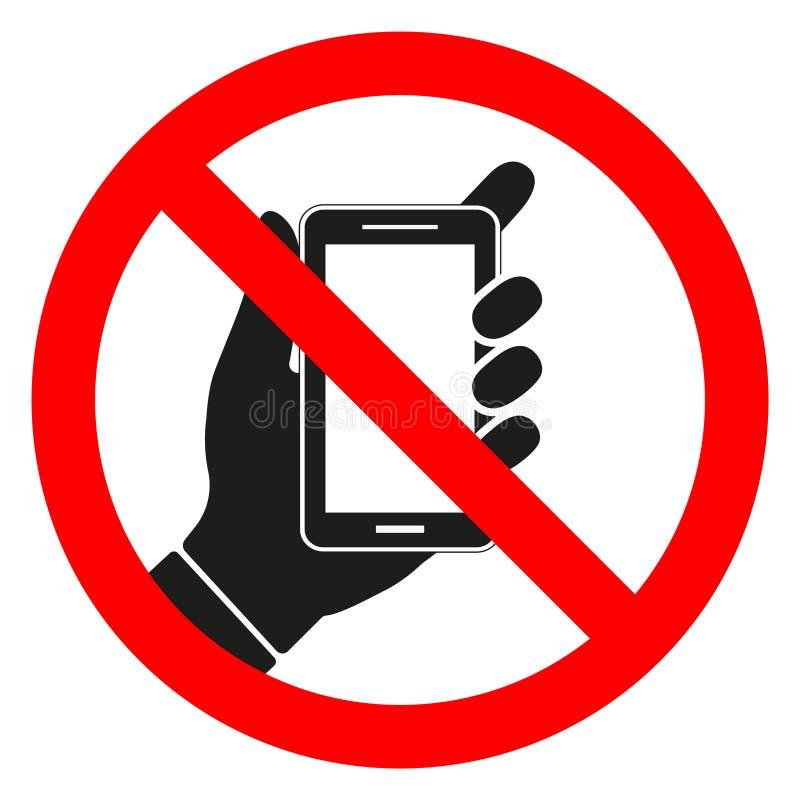 No utilizar el teléfono móvil Muestra, símbolo, ejemplo ilustración del vector