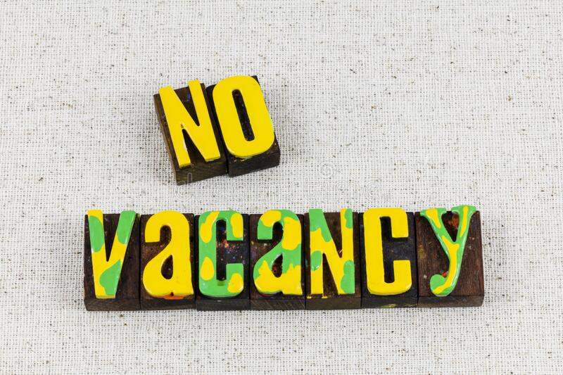 No vacancy sign guest vacation accomodation hotel full. No vacancy sign and guest vacation accomodation hotel is full rental house of traveler.  Housing for rent stock photos