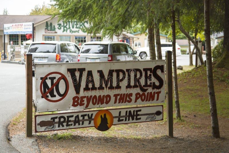 No Vampires Sign royalty free stock photo