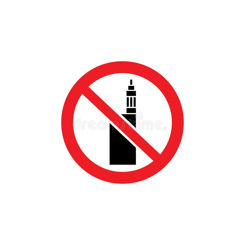 No vaping or electronic cigarette notification sign vector illustration isolated. royalty free illustration