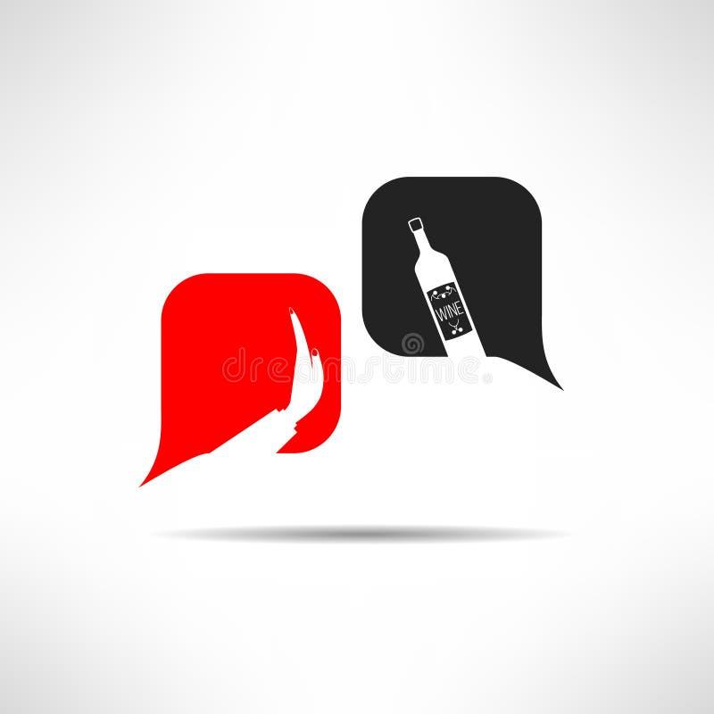 No vector ningún fondo del diálogo del alcohol drinking stock de ilustración