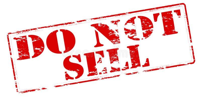No venda stock de ilustración