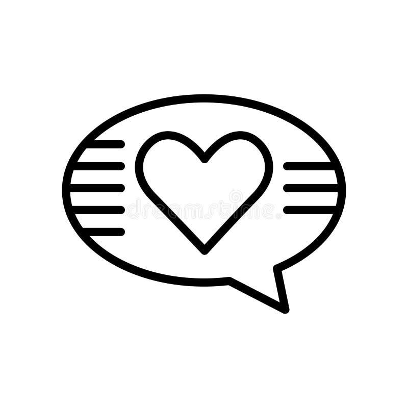 No vetor do ícone do amor isolado no fundo branco, no sinal do amor ilustração royalty free