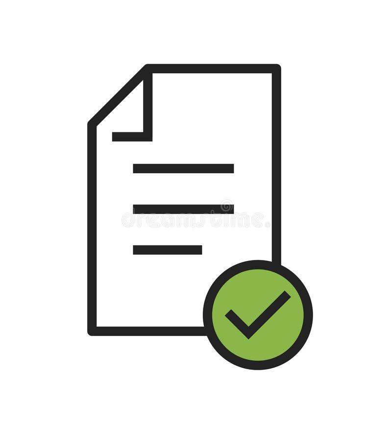 No vetor do ícone da conformidade que mostra uma empresa passada inspeção ilustração stock