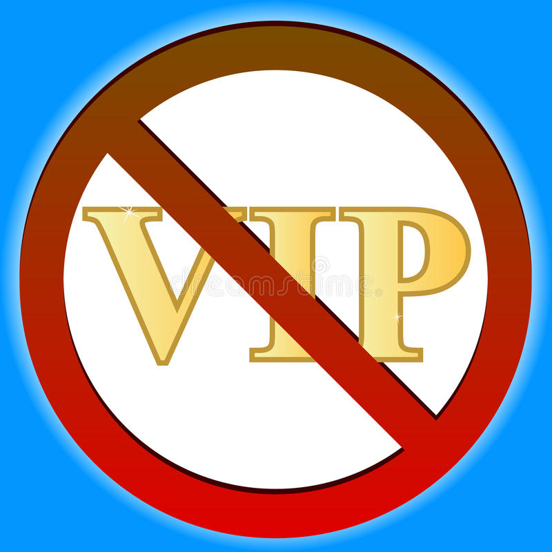 No Vip Royalty Free Stock Photo