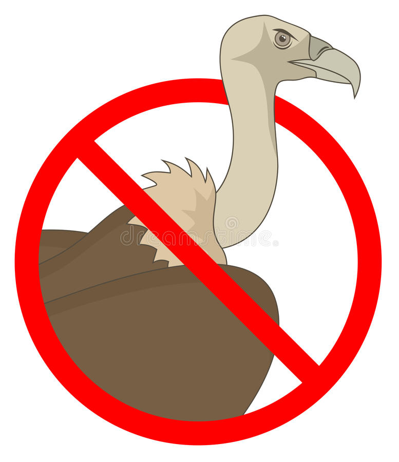 Download No vulture stock vector. Image of symbol, cartoon, prohibition - 30367769