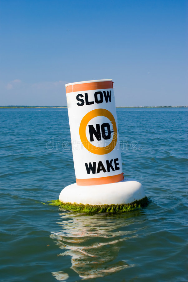 Download No Wake Buoy stock image. Image of boat, water, channel - 6024405