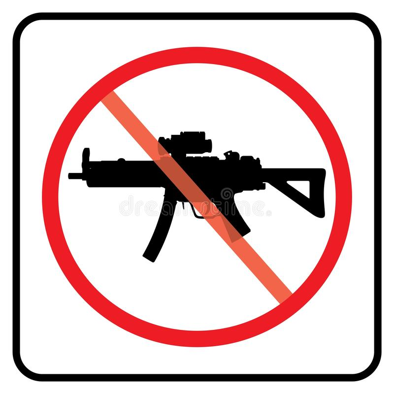 No prohibition temp. No weapon sign.no gun symbol in white background drawing by illustration- prohibition sign vector illustration