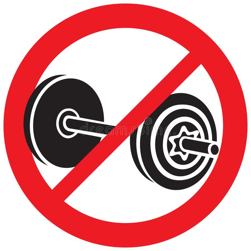 Free No Weight Dumbbell Sign Stock Photo - 114114420