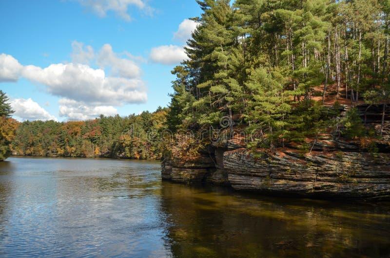 No Wisconsin River nos Dells fotos de stock