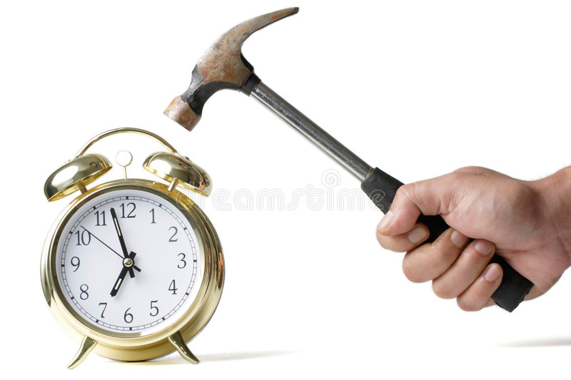Download No work today stock image. Image of clock, isolated, ring - 524121