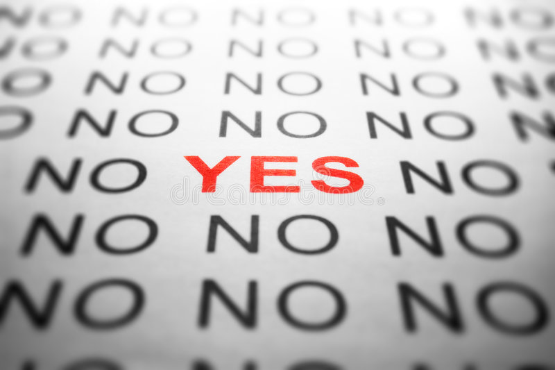 NO and YES text royalty free stock image