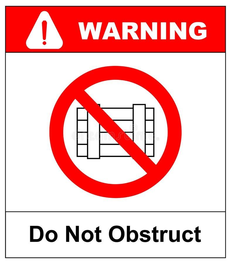 No zagradza, prohibicja znak Wyznaczający jasny teren, wektorowa ilustracja ilustracja wektor