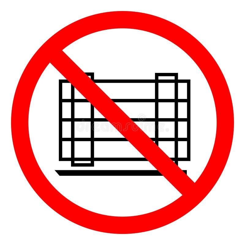 No Zagradza symbolu znaka, Wektorowa ilustracja, Odizolowywa Na Białej tło etykietce EPS10 ilustracja wektor